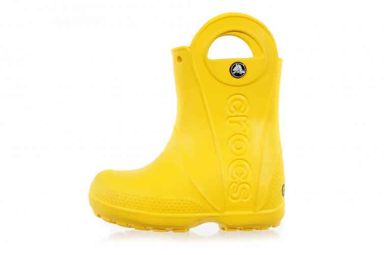 Резиновые сапоги Crocs Kids Handle It Rain Boot (1-UC) желтые