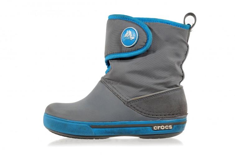 Сноубутсы Crocs Kids Crocband II.5 Gust Boot (3-UC) серые