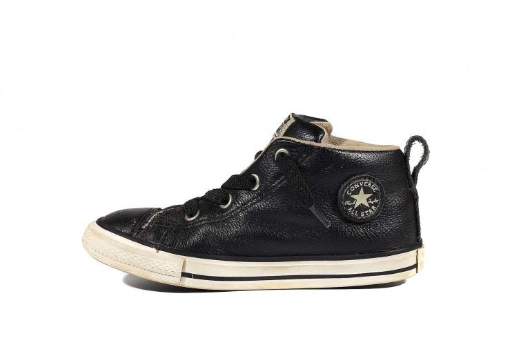 Детские кеды Converse Chuck Taylor All Star  Street Mid Leather 732516 (00003-U) Черные
